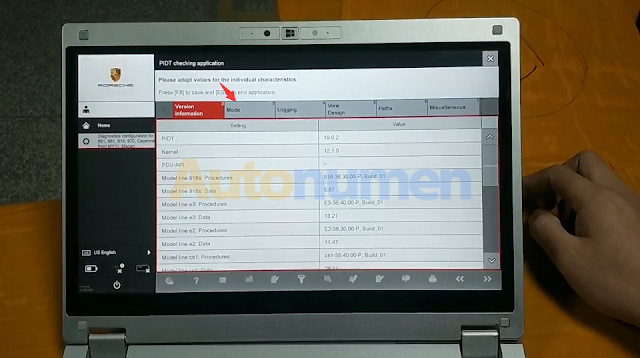 How to switch the Porsche Piwis Tester 3 to Engineer Mode-4